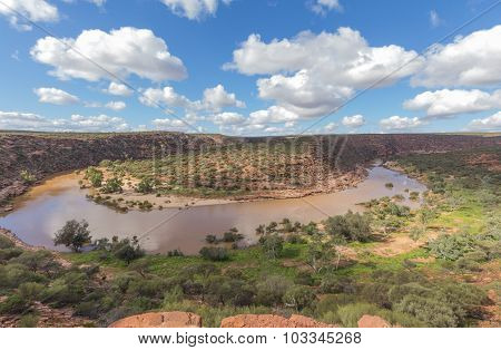 z bend in the murchison river gorge