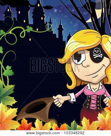 Pirate Girl Near The Castle