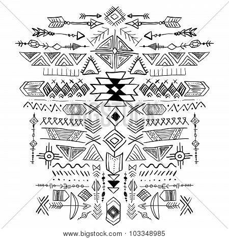 Navajo Aztec Vector Tribal Ethnic Ornament