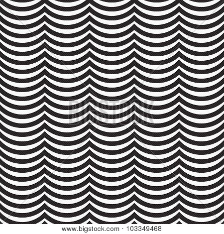 Black And White Wavy Stripes Tile Pattern Repeat Background