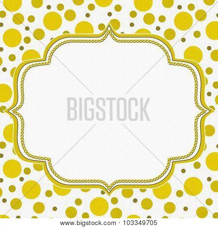 Yellow And White Polka Dot Frame Background