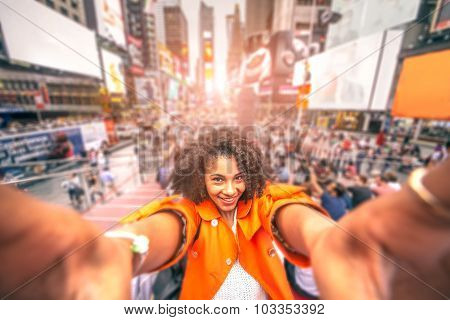 Selfie At Times Square, New York