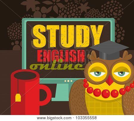Study english concept.
