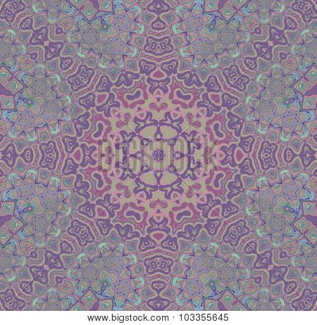 Seamless star pattern purple