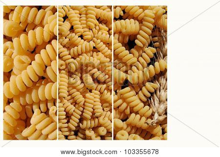Collage with pasta
