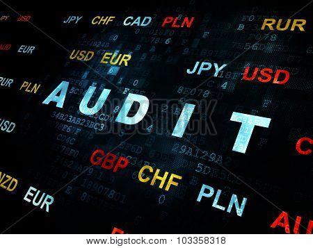 Finance concept: Audit on Digital background