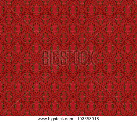 Seamless ellipses pattern red