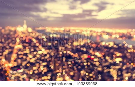 Blurred City Concept At Blue Hour.