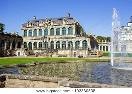 Pavilion Of Zwinger In Dresden
