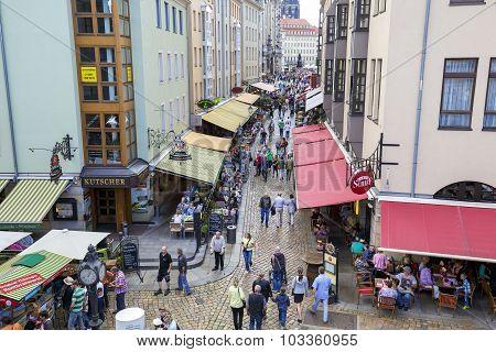 Street Munzgasse In Dresden