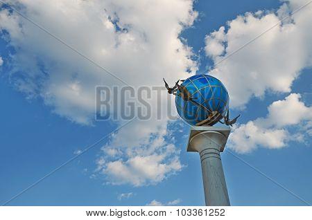 Globe Monument In Kiev .