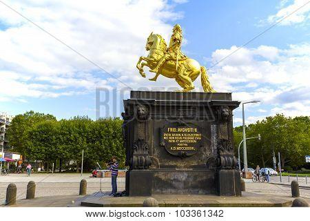 The Golden Rider In Dresden