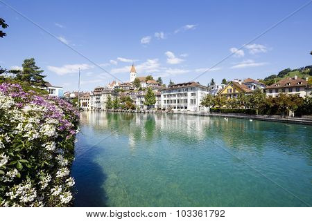 View Towards The Old Town Of Thun