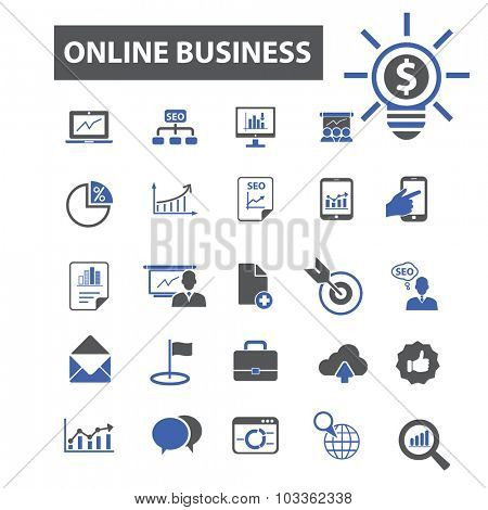 online business icons