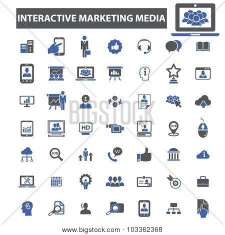 interactive media icons