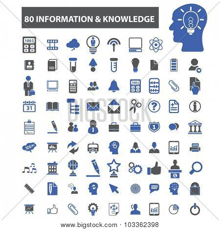 80 information, knowledge icons