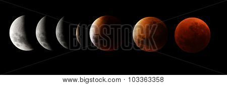 Moon Eclipse with blood moon