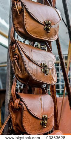Leather bags, handmade in Thailand