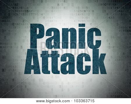 Healthcare concept: Panic Attack on Digital Paper background
