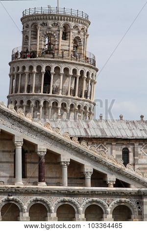 Cathedral and leaning tower in Pisa