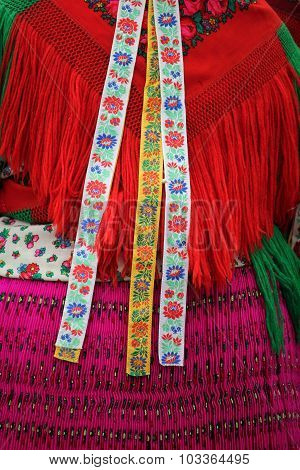 Colorful hungarian national costume