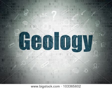 Studying concept: Geology on Digital Paper background