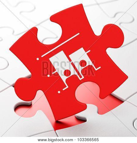 Politics concept: Election on puzzle background