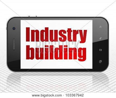 Industry concept: Smartphone with Industry Building on display