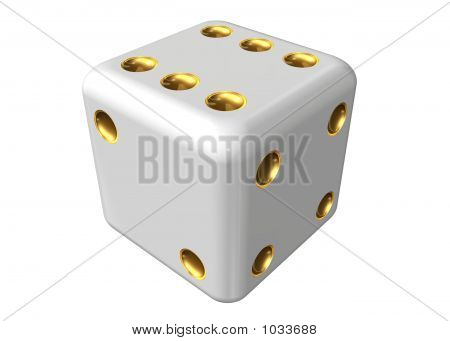 Dice On A White Background