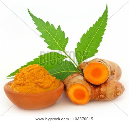Turmeric With Neem Leaves