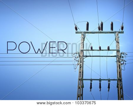 Power High Voltage Sign, Concept Of Electricity