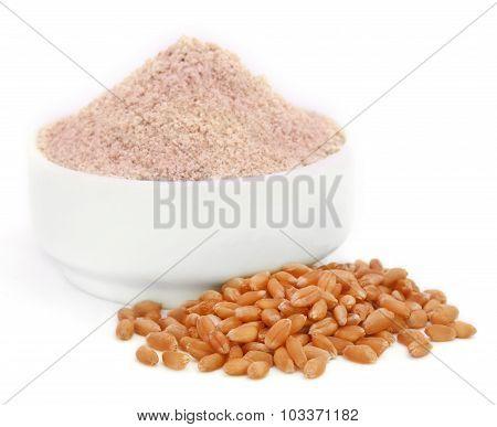 Fresh Brown Flour With Wheat