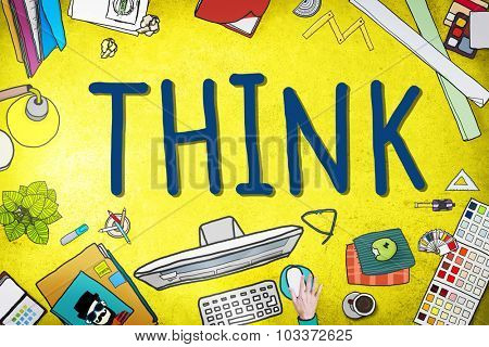 Think Idea Creative Intelligence Solution Concept