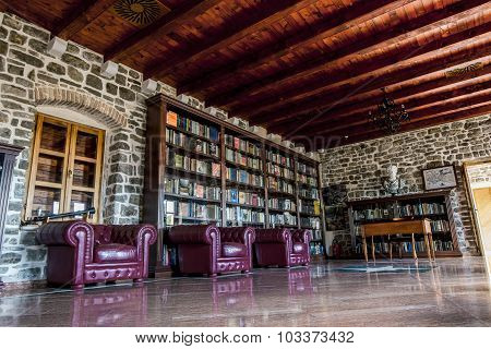 Library In The Old Town Of Budva.montenegro.