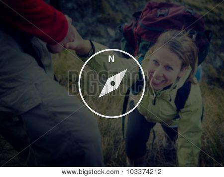 Compass Direction Navigation Adventure Instrument Concept