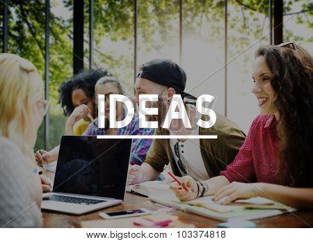 Ideas Inspiration Motivation Creativity Design Concept