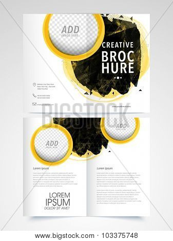 Professional Business Brochure, Template or Flyer presentation with space to add your images.