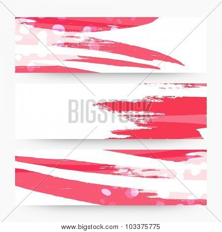 Creative abstract website header or banner set for your business.