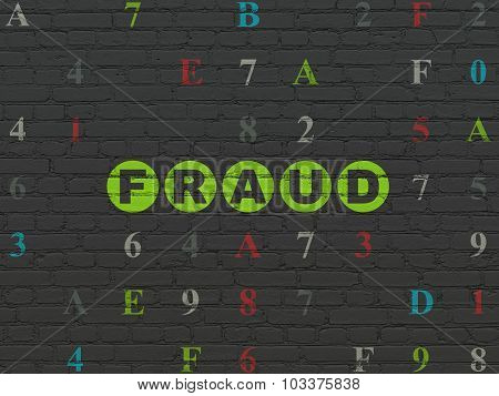 Safety concept: Fraud on wall background