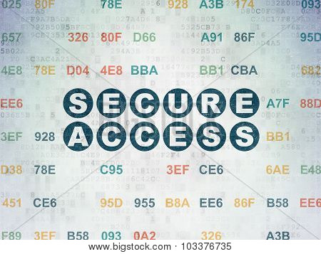 Protection concept: Secure Access on Digital Paper background