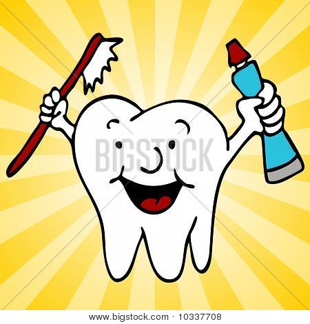 Healthy Clean Teeth Tooth Character