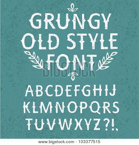 Vintage Hand Written Vector Textured Font