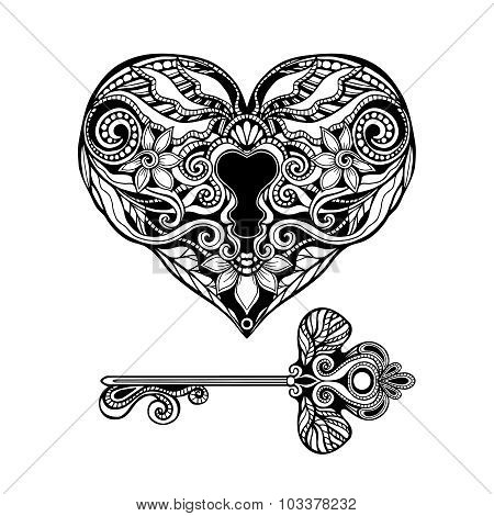 Decorative Key And Lock