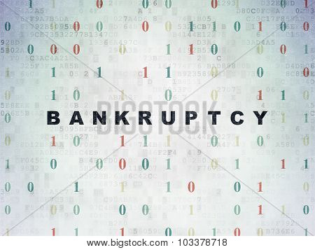 Business concept: Bankruptcy on Digital Paper background