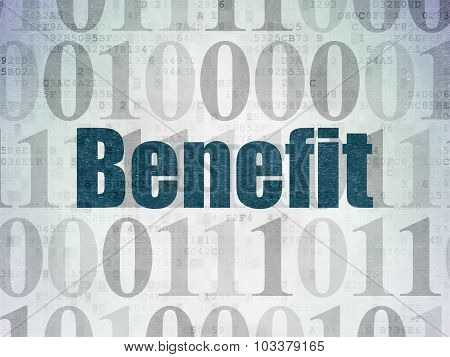 Finance concept: Benefit on Digital Paper background