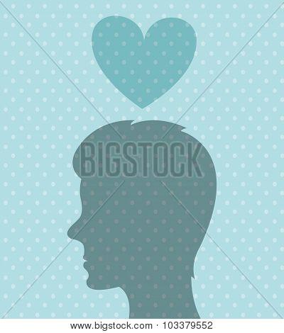 Romantic love design.