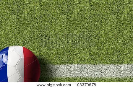 France Ball in a Soccer field