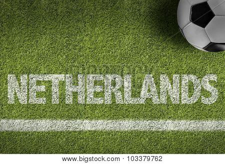 Netherlands Ball in a Soccer field