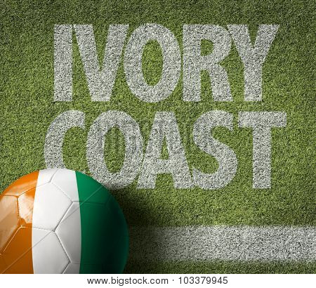 Ivory Coast Ball in a Soccer field