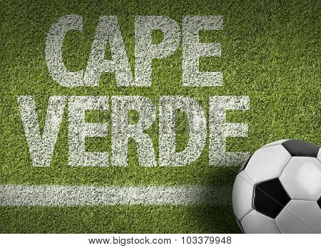 Cape Verde Ball in a Soccer field
